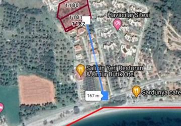 Denize 160 m2 mesafede sitelerin arasinda firsat arazi